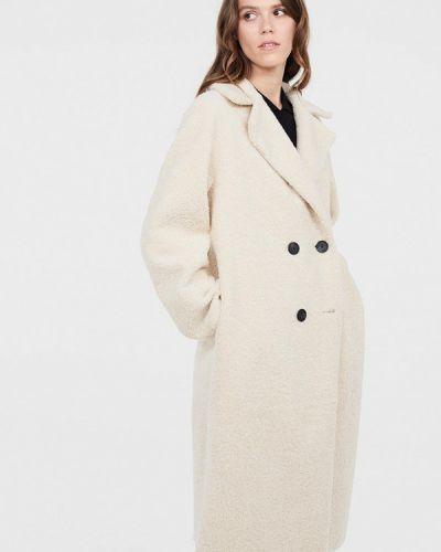 Пальто демисезонное бежевое Lime