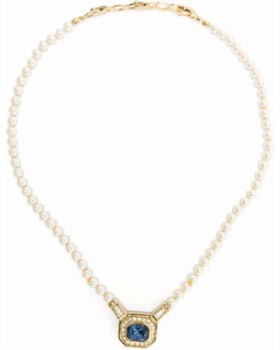 Biały naszyjnik z pereł Christian Dior
