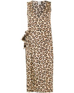 Платье миди с запахом леопардовое Lautre Chose