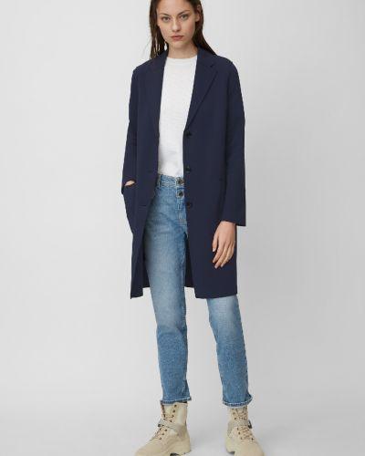 С рукавами синий прямой классический пиджак Marc O' Polo