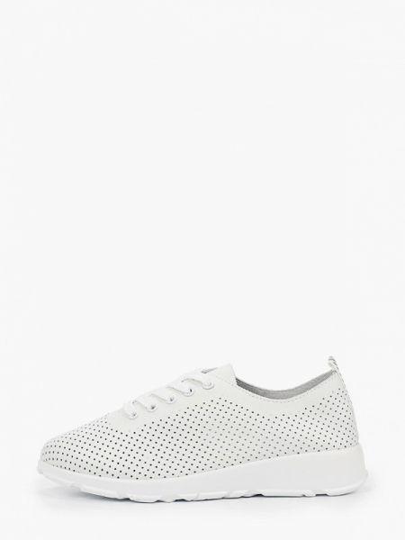 Белые кроссовки из натуральной кожи O-live Naturalle