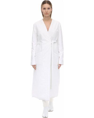 Теплое платье платье-рубашка с лацканами Mm6 Maison Margiela