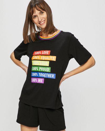 Пижама с шортами черная пижамный Dkny