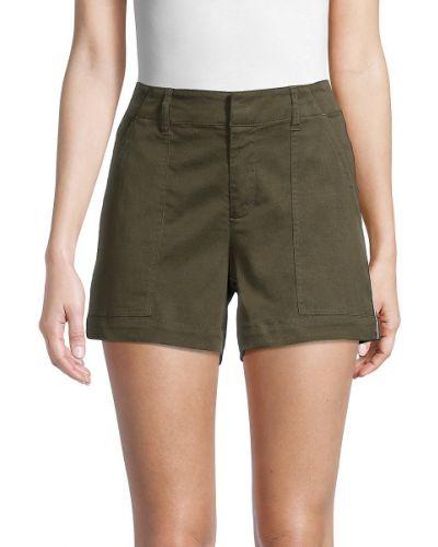 Зеленые хлопковые шорты для плаванья с карманами Pure Navy