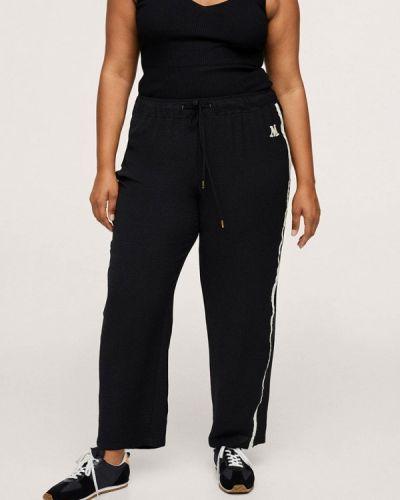 Черные прямые брюки Violeta By Mango