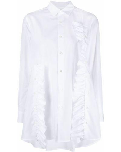 Хлопковая белая рубашка на пуговицах Comme Des Garçons Noir Kei Ninomiya