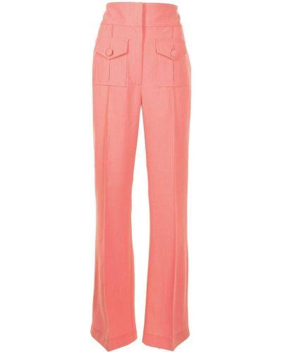 Расклешенные с завышенной талией розовые брюки Alice Mccall