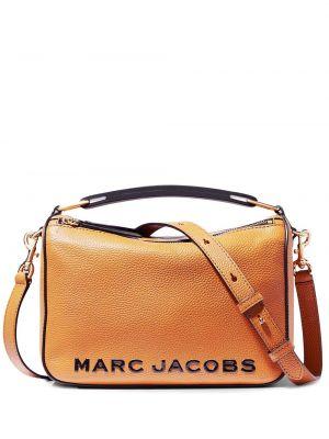 Оранжевая кожаная сумка на плечо на молнии Marc Jacobs