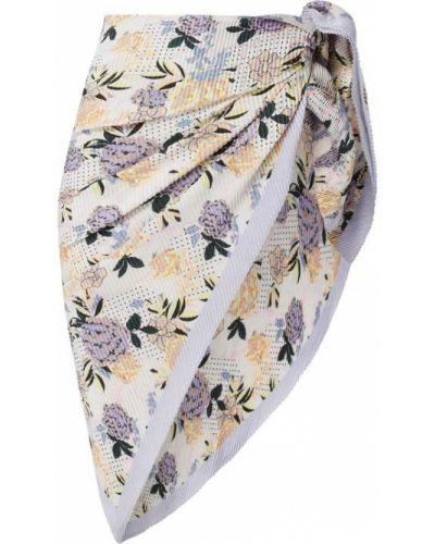 Satyna fioletowy chusteczka Becksöndergaard