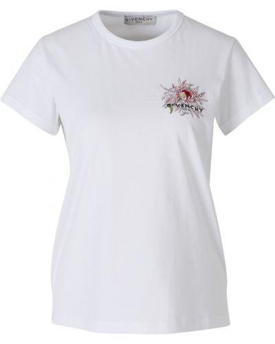 Bawełna bawełna t-shirt z haftem Givenchy