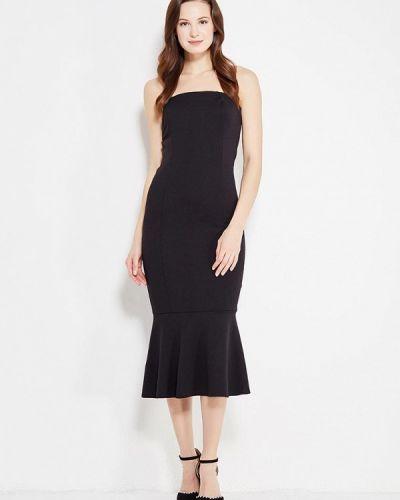 Вечернее платье осеннее черное Sk-house
