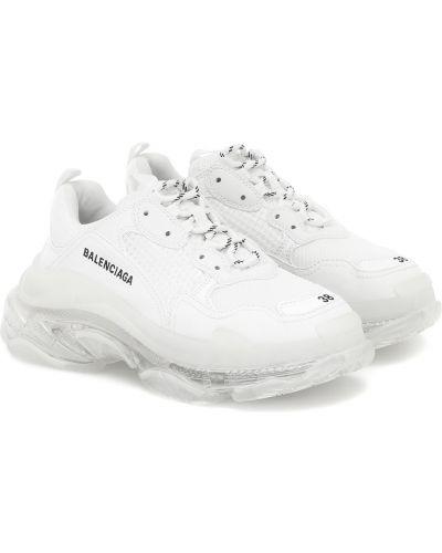 Biały włókienniczy sneakersy Balenciaga