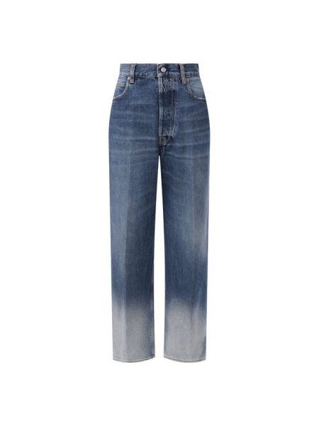 Прямые джинсы синие жёлтые Golden Goose Deluxe Brand