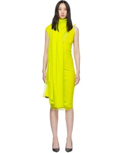 Платье с запахом с разрезами по бокам Vetements