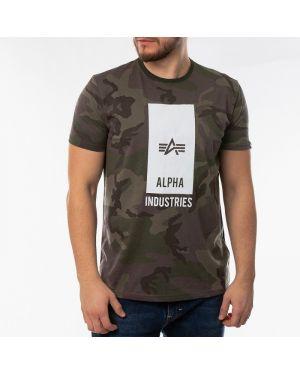 Футболка с логотипом зеленый Alpha Industries