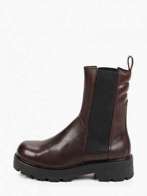 Кожаные ботинки челси - коричневые Vagabond