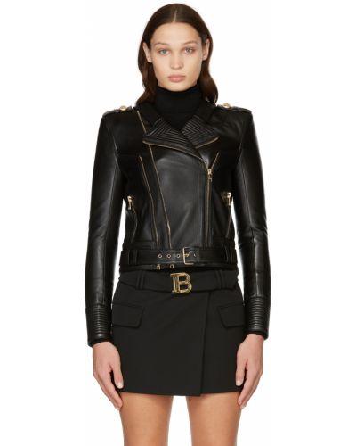 Черная куртка с карманами Balmain