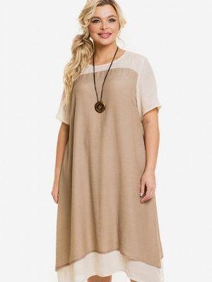 Коричневое повседневное платье Venusita