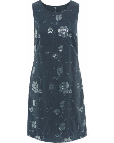 Платье с пайетками с цветочным принтом Bonprix