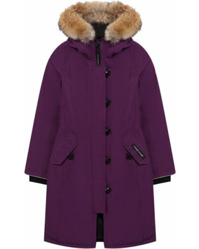Парка с капюшоном фиолетовый Canada Goose
