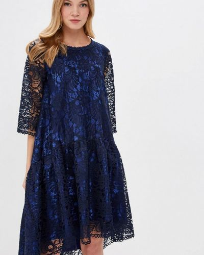 Вечернее платье весеннее синее Madam T