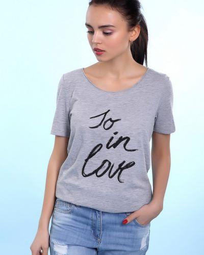 Серая футболка хлопковая S.oliver