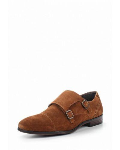 Коричневые туфли замшевые Topman