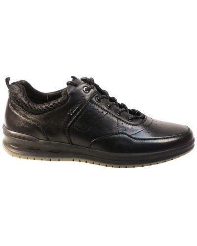 Кожаные кроссовки - черные Tonkelli