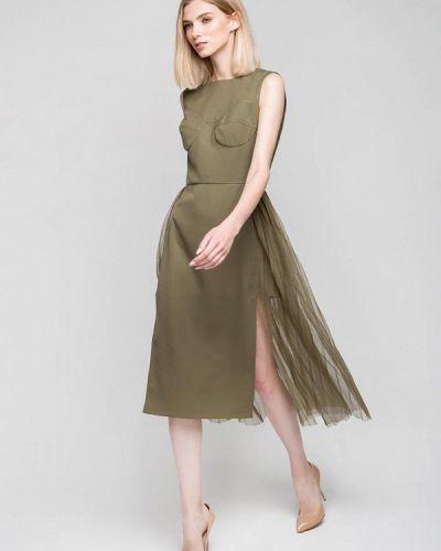 Зеленое вечернее платье Fors
