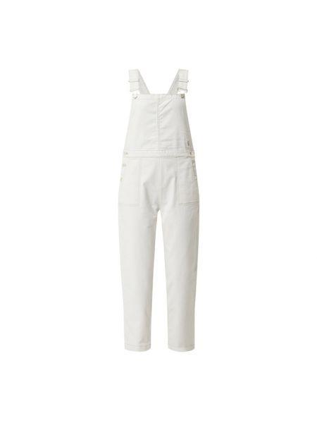 Biały kombinezon jeansowy bawełniany Marc O'polo Denim