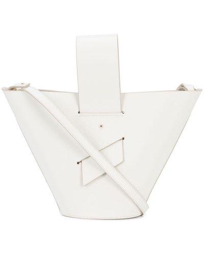 Кожаная сумка белый Carolina Santo Domingo
