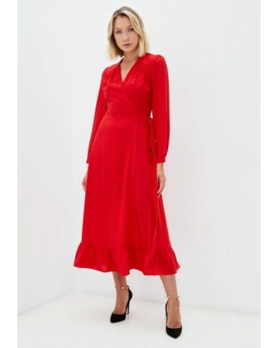 Платье с запахом - красное Moru