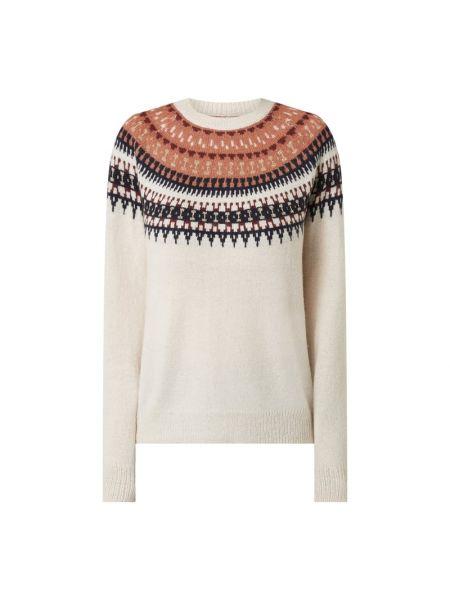Sweter wełniany - biały Saint Tropez