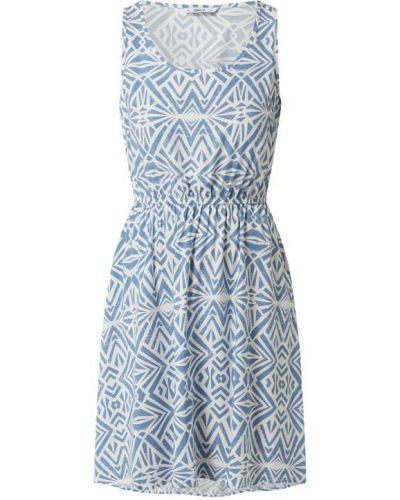 Niebieska sukienka rozkloszowana z wiskozy Only