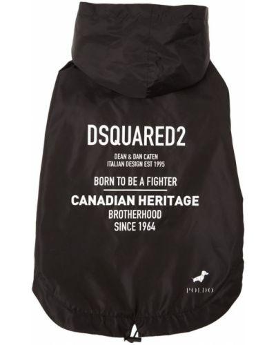 Płaszcz przeciwdeszczowy - czarny Dsquared2
