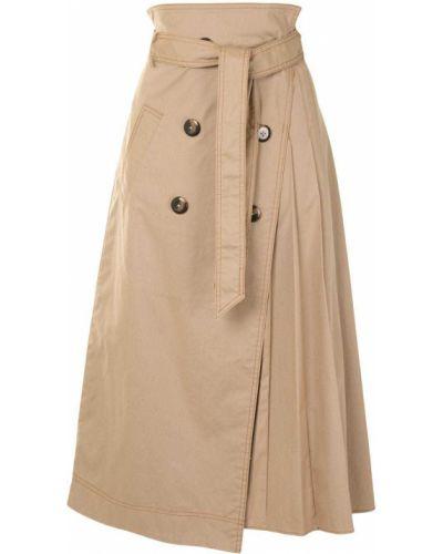 С завышенной талией плиссированная юбка на пуговицах Jonathan Simkhai