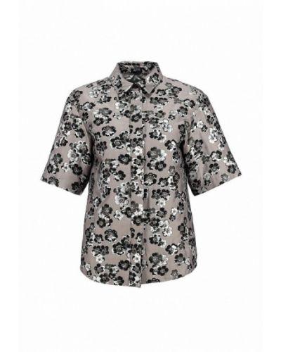 Серая блузка с коротким рукавом Jil Sander Navy