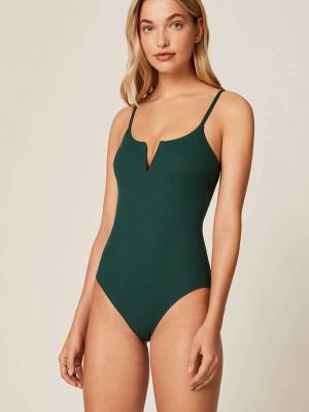 Слитный купальник зеленый Oysho