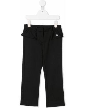 Spodnie czarne z paskiem Baby Dior