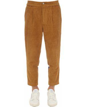 Brązowe spodnie sztruksowe w paski Sergio Tacchini
