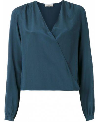 Блузка с длинным рукавом с запахом с V-образным вырезом Egrey