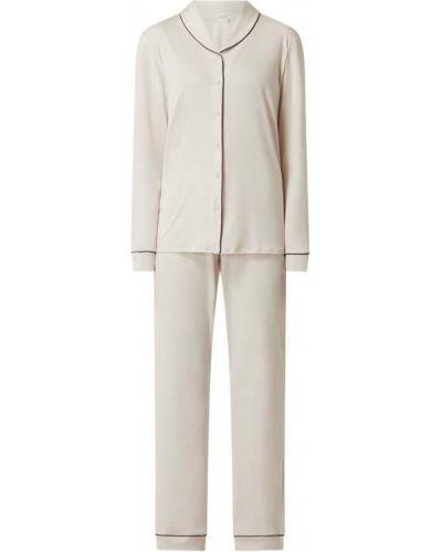 Biała piżama z długimi rękawami Hanro