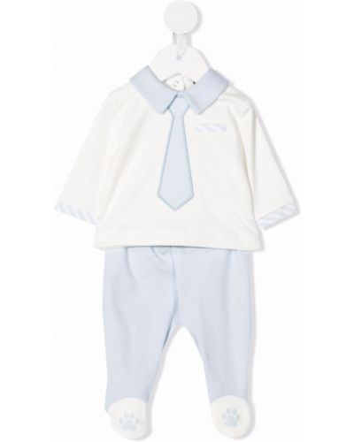 Biały klasyczny krawat Monnalisa