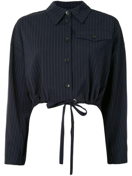 Ватная синяя длинная куртка с воротником Baum Und Pferdgarten
