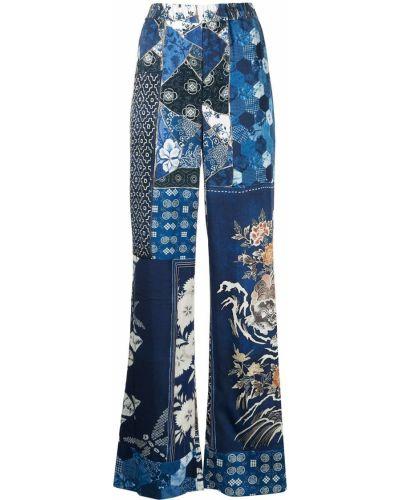 С завышенной талией синие брюки свободного кроя Roberto Cavalli