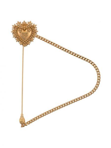 Broszka ze srebra, złoto Dolce And Gabbana