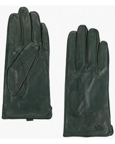 Зеленые кожаные перчатки Carpisa