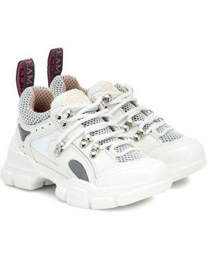 Sneakersy skórzany Gucci Kids