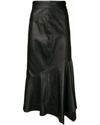 Кожаная юбка с завышенной талией асимметричная Chalayan