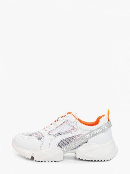 Белые кроссовки из натуральной кожи X-plode